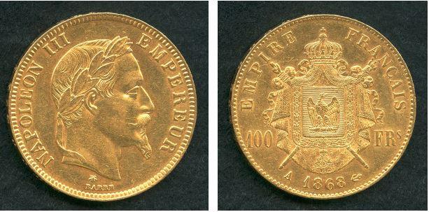 ナポレオン 金貨 1866