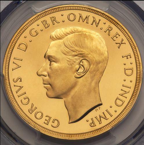 ジョージ 6世 5 ソブリン 金貨