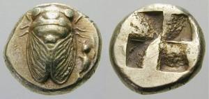 イオニア-ポカイア エレクトラム・へクテ金貨