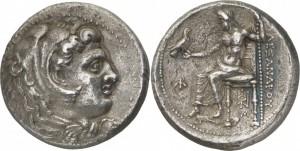 マケドニア王国 アレクサンドロス3世 デカドラクマ銀貨