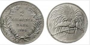 極楽鳥 2 マルク銀貨