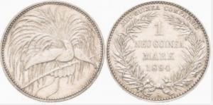 極楽鳥 1 マルク銀貨
