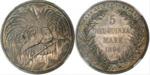 極楽鳥 5 マルク銀貨