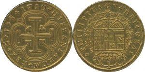 スペイン 8エスクード金貨 1719年F フェリペ5世(1683-1746)