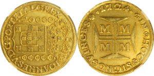 「1724-27年 ブラジル ジョアン5世 20000レイス金貨