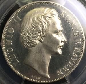 ルートヴィヒ 5マルク プルーフ銀貨