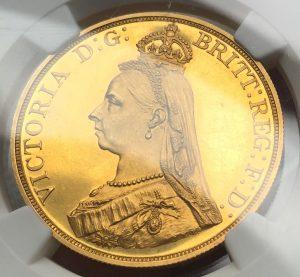 ヴィクトリア ジュビリーヘッド 5ポンド