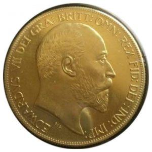 エドワード 七世 マットプルーフ 金貨