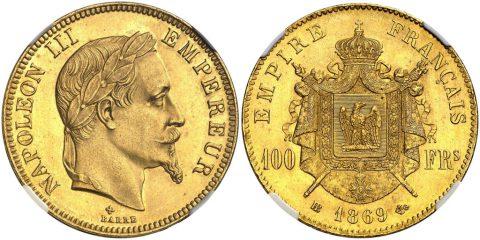 ナポレオン3世 100フラン金貨